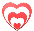 2 Sets Of 5 Nesting Heart Die Cuts - 10 Total! Xc. Any Colour/Card
