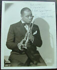 A Young Louis Armstrong Signed 8x10 Matte-Finish Photo Jazz
