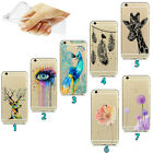 Ultra Thin Fashion Pattern Transparent Soft Case Cover For iPhone Samsung Huawei