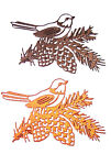 6 Robin On A Pine Bough, Christmas Die Cuts, Ult.C. Any Colour/Card