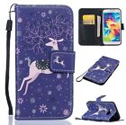 Card Holder Leather Flip Wallet Case Cover Stand For Samsung Galaxy