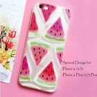 Emboss Summer Watermelon Pattern Soft Clear Silicone Case For iPhone 6 6S 6 Plus