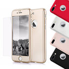 Luxury 360° Hybrid Acrylic Hard Case Tempered Glass Cover For iPhone 7 / 7 Plus