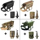 SET of DOG TACTICAL VEST + WATER HOLDER + MOLLE BAG HUNTING K9 MILITARY ARMY