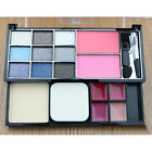 Pro Makup Palette Kit Eyeshadow Lip Foundation Powder Cosmetic w/ Brush Arrival