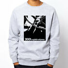 2001 SPACE ODYSSEY BW stanley kubrick Grey Heavy Blend Crewneck Sweatshirt