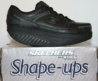 Womens Skechers 76557 Maisto Shape Ups Non Skid Slip Resistant Work Shoes Black