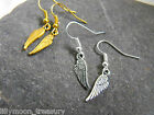 GOLD or SILVER plated GUARDIAN ANGEL WING EARRINGS