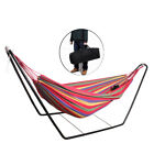 Double Cotton Hammock Optional Steel Frame Stand Combo Swing Chair Home Outdoor
