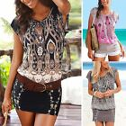 Womens Holiday Casual Mini Playsuit Ladies Jumpsuit Summer Beach Dress UK 6-16