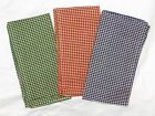 Vintage Dunroven Mini Check Tea Dyed Napkins Set Of 4 100% Cotton 3 Choices
