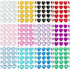 Sheet Self Adhesive Craft Diamante Rhinestone Gems Stick on HEART Crystals