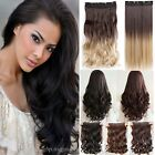 Cheap Sale One Piece Clip In Hair Extensions Curly Straight Wave Real As Human