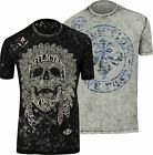 Affliction Native Tongue Reversible T-Shirt (Black/Gray)
