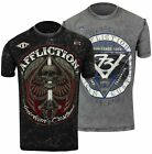 Affliction Death March Reversible T-Shirt (Black/Gray)
