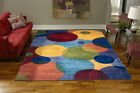 Momeni New Wave 37 Multi Area Rug Modern Contemporary Wool All Sizes