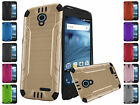 For ZTE Avid Trio ZTE Cheers Combat Metal Brushed Hybrid Cover Case