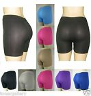 New Women's Seamless Basic Plain Solid Tight Athletic Shorts Stretch