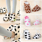 House Women Men Indoor Slippers Home Warm Cotton Velvet Shoes Sandals Anti-Slip