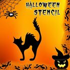 Cat Halloween Mylar Painting Pumpkin Wall Art Stencil two