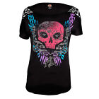 Harley-Davidson® Women's Metamorphosis Skull Embellished Dolman Shirt $25.95 USD on eBay