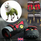 4PCS Waterproof Pet Snow Boots Protective Shoes Dog Booties Black High Quality