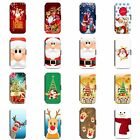 CHRISTMAS XMAS SNOWMAN SANTA FLIP WALLET BOOK POUCH SLOT CASE FOR SAMSUNG PHONES