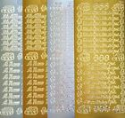 New Baby Peel Off Stickers Boy Girl Silver Gold Cardmaking Craft Buy 4 Get 1 Fre