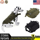 Dog Tactical Military Police Molle Vest  Service Canine Harness Clothes US