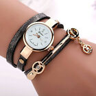 New Fashion Womens Ladies Watch Stainless Steel Leather Bracelet Wrist Watches image