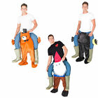 Stuffed Ride On Me Stag Mascot Carry Piggy Back Fancy Dress Costume
