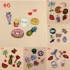 8Pcs 6 Styles Embroidery Sew Iron On Patch Badge Bag Clothes Fabric Applique DIY