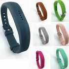Replacement Silicone Watch Band Wrist Strap w/Classic Buckle For Fitbit Flex 2