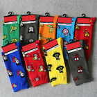 Men's 9 Pairs Cartoon Socks Lots Super Hero Design Casual Socks Dress 10-12