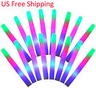 100~1000 PCS Light-Up Foam Sticks LED Rally Rave Cheer Tube Soft Glow Baton Wand