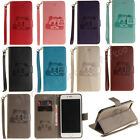 Fashion Flip Pattern Hybrid Stand PU Leather Cover TPU Case Wallet For Phone T-x