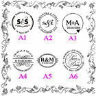 Wedding & Events Names Initials Date Custom Rubber Flash Stamps Self inking