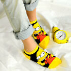 Women Anklet Comfort Socks Cartoon Simpson Short Ankle Socks Doughnut Minions