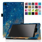 """PU Leather Case Cover For 8"""" Amazon Fire HD 8 ( 6th Generation,2016 ) Tablet"""