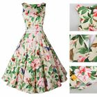 Special Floral Printed Vintage Rockabilly Dress Fashion Women Office Swing Dress