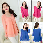 Women's Lady Loose Long Sleeve Casual Blouse T Shirt Tops New Fashion Blouse