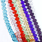 20/50/100PCS Mixed Clear Crystal Faceted Rondelle Loose Beads For Charm Jewelry