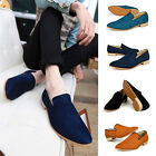 Shaggy New Suede Slip On Mens Driving Moccasin Loafer Casual Flat sneakers Shoes