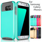 Silicone Rubber Hybrid Shockproof Slim Hard Case Cover for Samsung Galaxy Phone