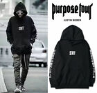 Black Sweats Mens 2016 JUSTIN BIEBER STAFF WESTERN STYLE FOR PURPOSE TOUR Hoodie