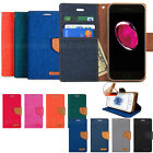 Canvas Layer Clasp Flip wallet leather Case Cover For Galaxy S10 Plus iPhone XR
