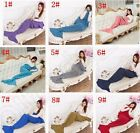 Blanket Mermaid Tail Handmade Crocheted  Warm Sofa Blankets/ Quilt Rug Knit UK