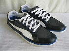 MENS PUMA BLACK LEATHER BLUE & WHITE LACE UP TRAINERS KITE RIPSTOP