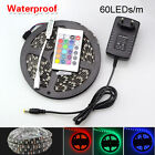 5M SMD 5050 300LEDs RGB White LED Strip Light 12V Power Supply 24Key remote