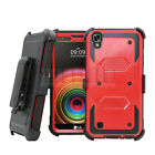 Shockproof Holster Hybrid Case Stand Cover Belt Clip For LG X Style Tribute HD